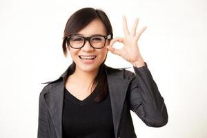 asiatisk arbetande kvinna foto