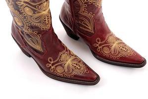 cowboy stövlar. foto