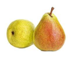 päron isolerad på vit bakgrund foto