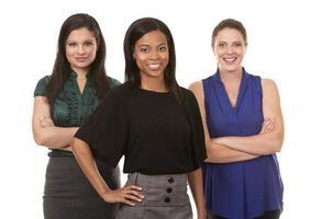 tre affärskvinnor foto