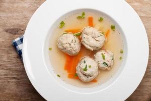 bayerska dumpling soppa foto