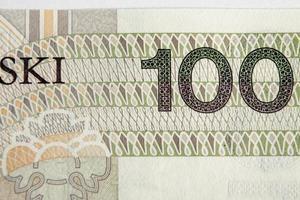 sedel 100 pln - polsk zloty foto