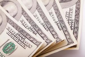 skjuta pengar närbild med makrolinsen foto