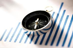 diagram koncept med kompass foto