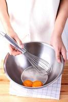 bakning tårta process foto