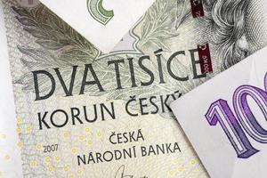 tjeckiska korunas czk, sedlar foto