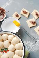 bakning kakor hemma processen foto