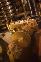 industri kugghjul maskin kugge, affärssamarbete, teamwork och tid koncept foto