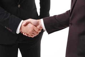 handskakning av två affärsmän foto