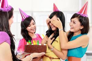 födelsedagsöverraskning foto