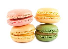 fyra färgglada franska makron
