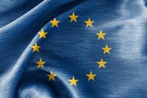 silke bomulls flagga från Europeiska unionen foto
