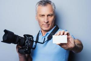 professionell fotograf. foto
