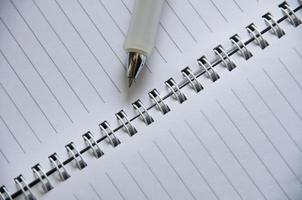 anteckningsbok, tom planerare foto