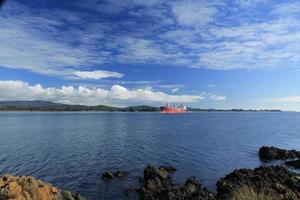inkommande fartyg foto