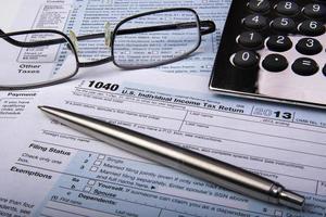 skatteformulär 1040 foto