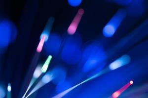 optiska fibrer abstrakt suddig teknik bakgrund foto