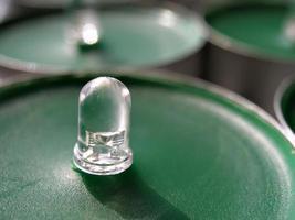begreppet grön teknik ledd på vax foto
