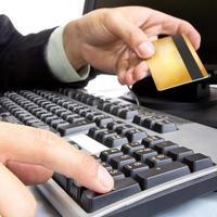 betalning vid användning av kreditkort foto