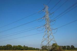 silhuett elektrisk pol foto