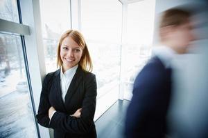 affärskvinna i office foto
