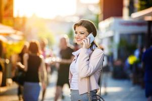 vacker affärskvinna foto