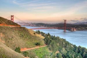 gyllene gate bridge panorama foto