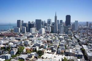 liggande flygfoto över San Fransisko stadsbild