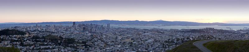 panorama över san francisco foto