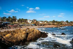 san francisco beach, piriapolis i uruguay kusten foto