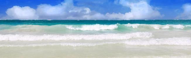 karibisk drömstrand. sommarstrand. foto