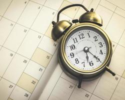 tid och planerare foto
