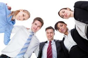 företagare tittar ner foto