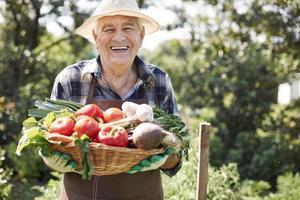 färska grönsaker från min trädgård foto