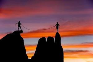 klättringslag på kanten. foto