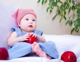 bedårande baby foto