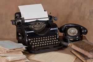 vintage kontorsskrivbord foto