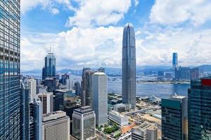 moderna byggnader i Hong Kong finansdistrikt foto