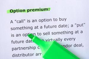 option premium foto