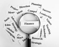 finans koncept foto