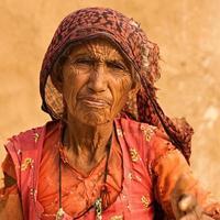 porträtt av indisk kvinna. foto