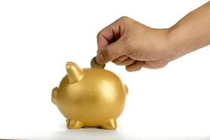 spargris ökar din finans växer foto