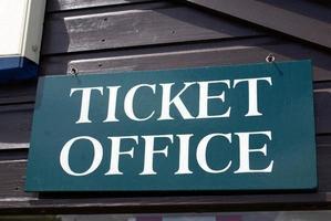 biljettkontor skylt foto