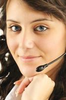 vacker call center anställd foto