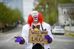 kommer att arbeta för skratt foto