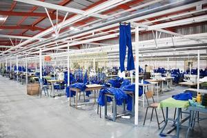 industriell textilfabrik foto