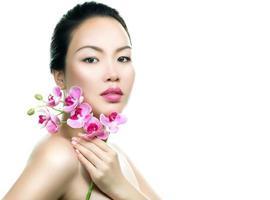 asiatisk kvinna skönhet porträtt foto
