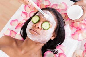 ansiktsmask av kvinna foto