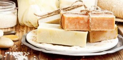 naturlig soap.spa-inställning foto