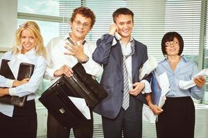 röriga anställda foto